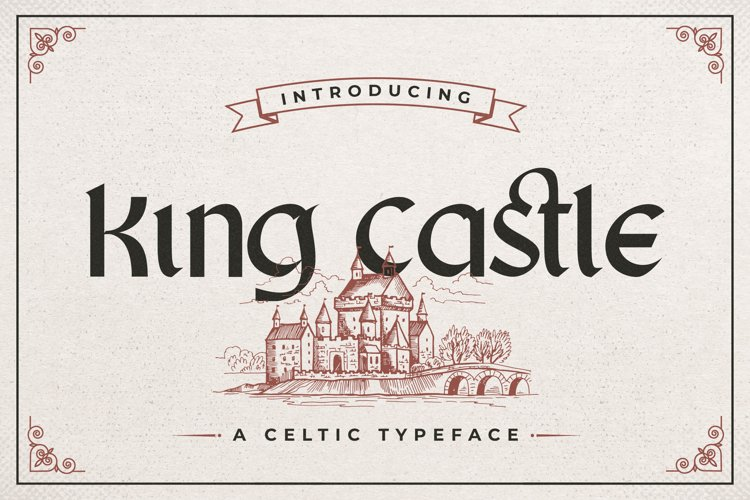 King Castle - Celtic Typeface example image 1