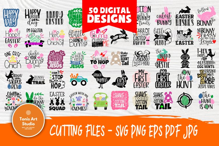 Kids Easter Quotes | SVG Bundle | Easter Svg Cut Files example image 1