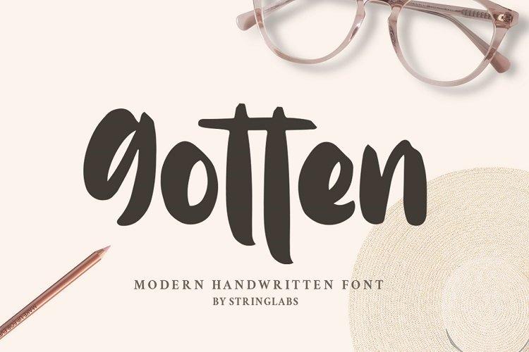 Gotten - Modern Handwritten Font example image 1