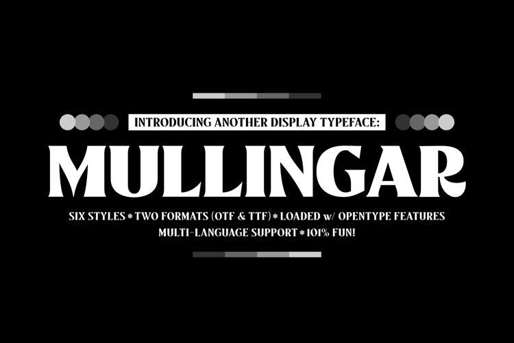 Mullingar Display Typeface example image 1