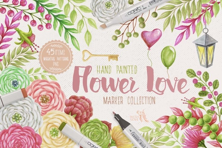 Flower Love Marker Kit example image 1