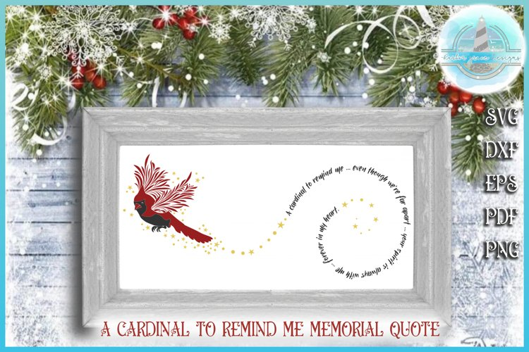 Cardinal To Remind Me Memorial Quote SVG example image 1