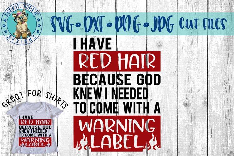 Red Hair Warning