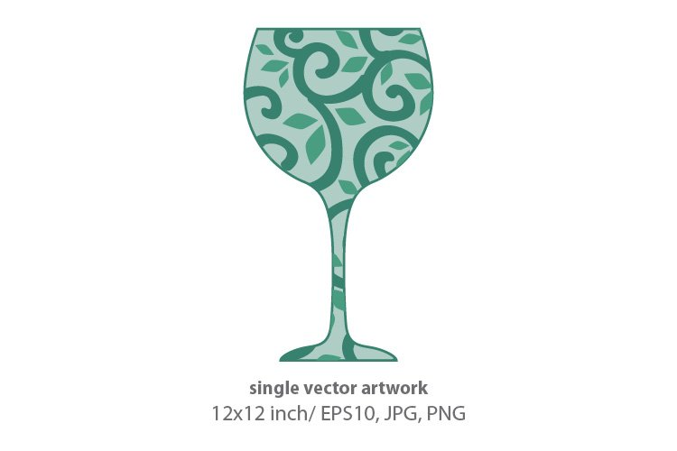WINE, SINGLE VECTOR ARTWORK example image 1