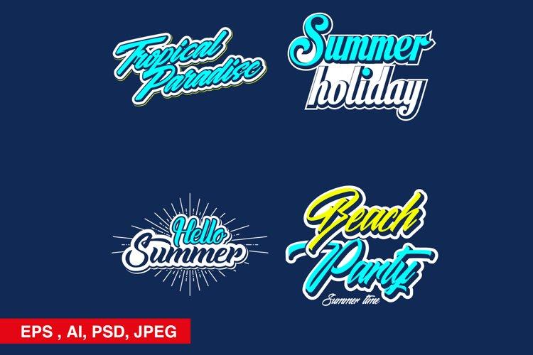 summer typography sticker set example image 1