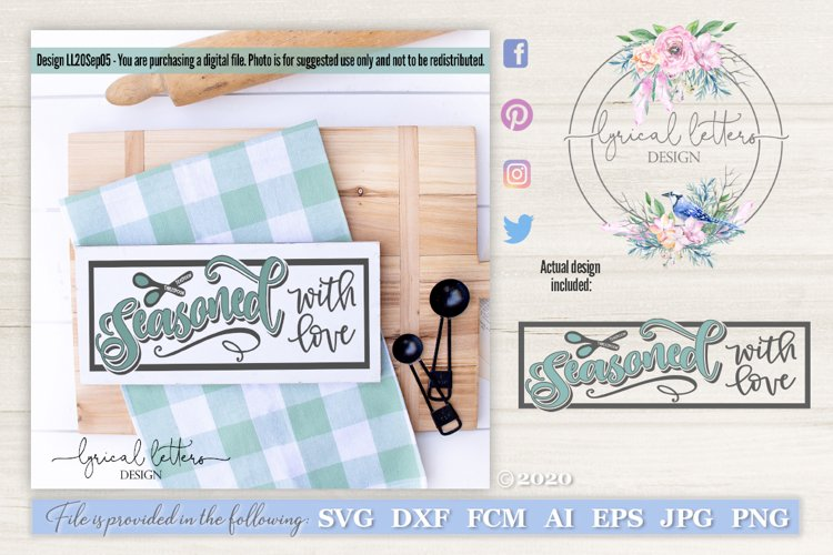 Seasoned With Love SVG Cut File LL20Sep05