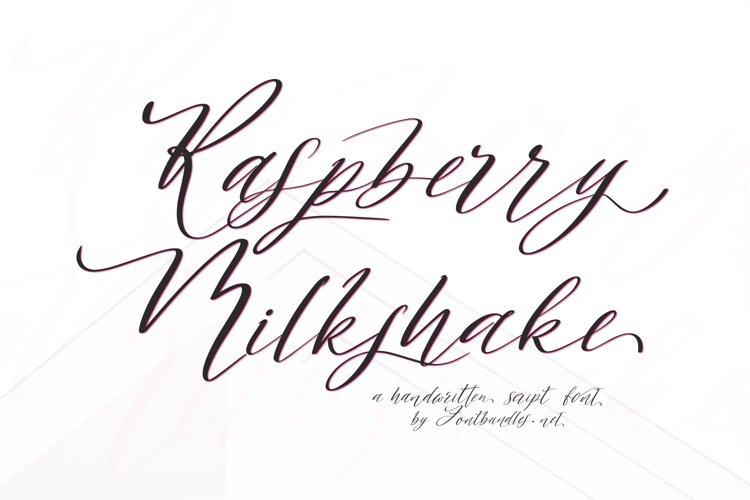 Web Font Raspberry Milkshake Script Font example image 1
