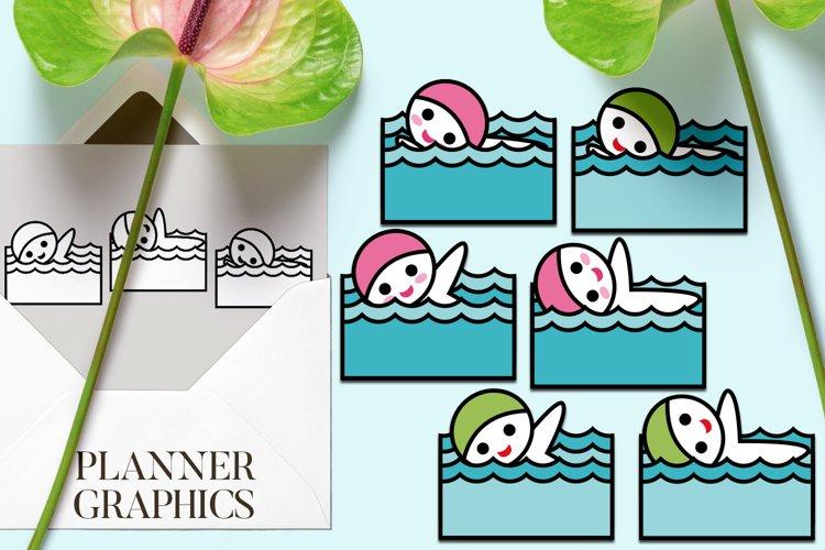 Swimming graphic illustrations