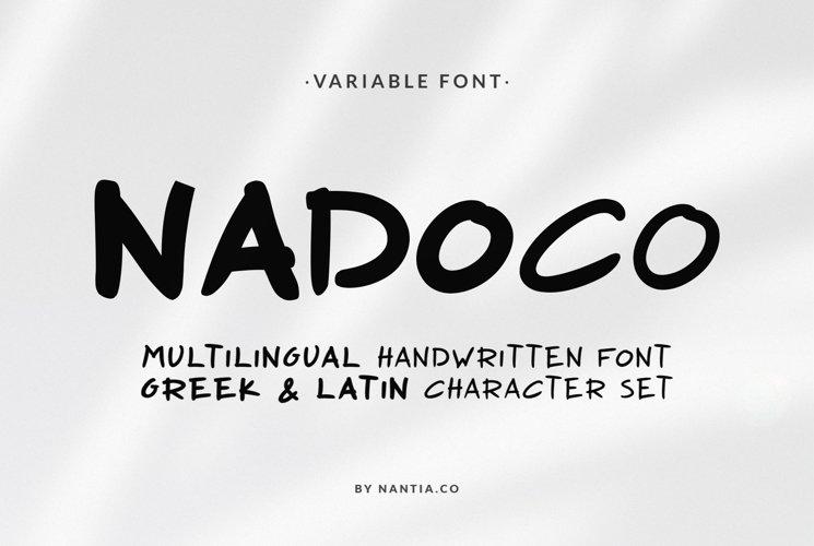 Nadoco Variable Handwritten Font example image 1