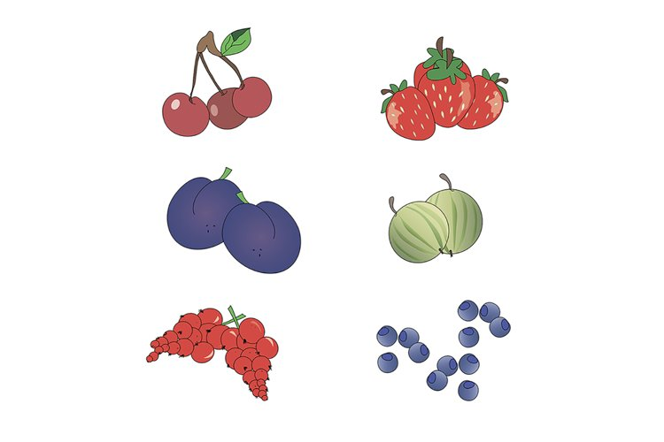Set of icons berries example image 1