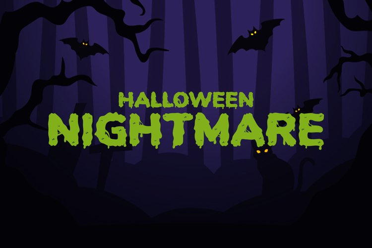 Halloween Nightmare - Spooky Display Font