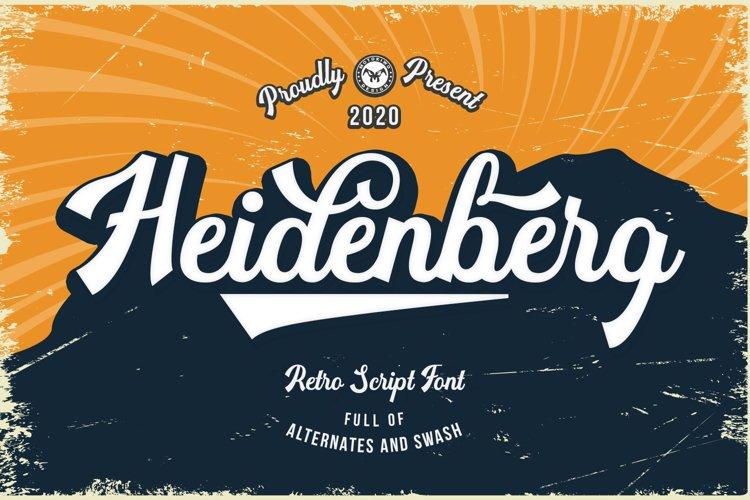 Heidenberg - Retro Font example image 1