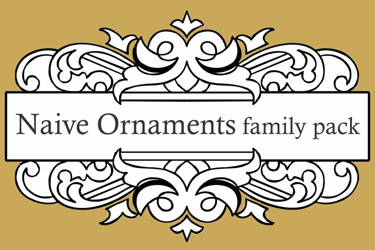 Naive Ornaments Family Pack (seven fonts)