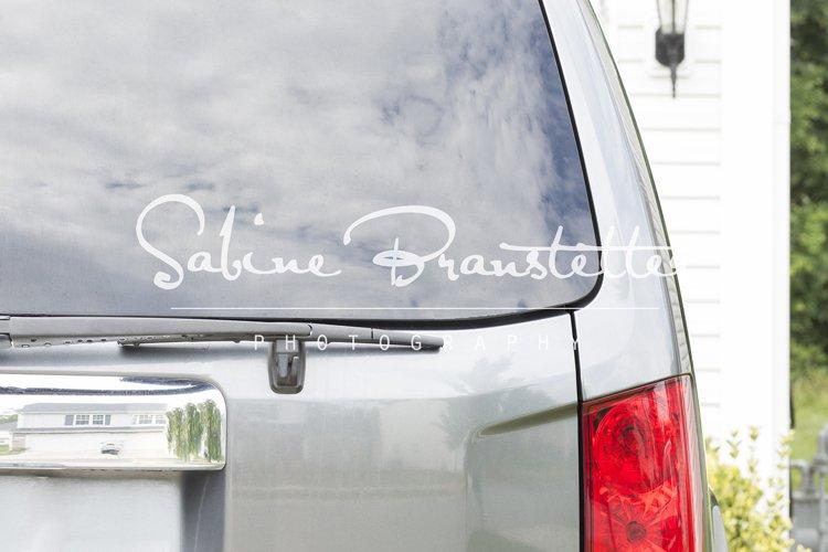 Styled Stock Photography Car Rear Window Mockup example image 1