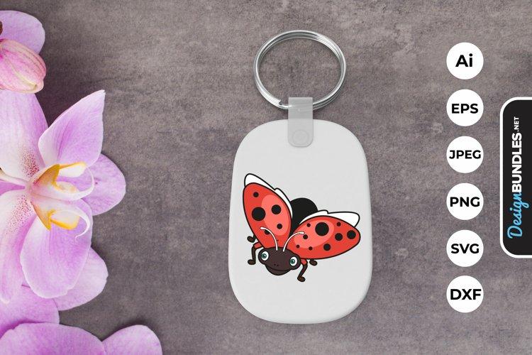 Cute Bug Keychain example image 1