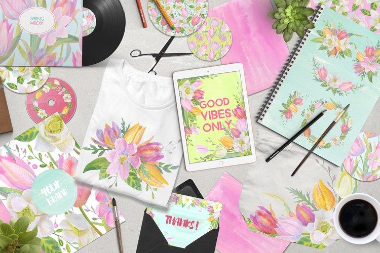 Floral Design Pack (watercolor & pastel) - Free Design of The Week Design3