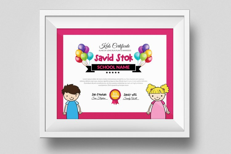 Kid Certificate and Diploma Template example image 1