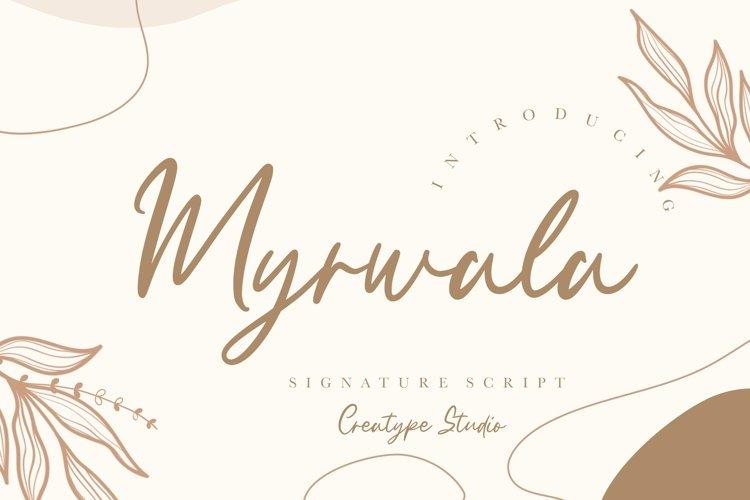 Myrwala Signature Script example image 1