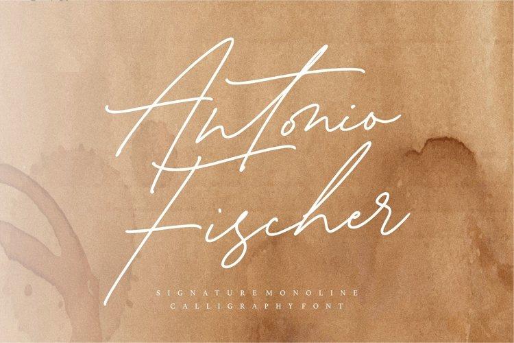 Antonio Fischer Signature Monoline Calligraphy Font example image 1