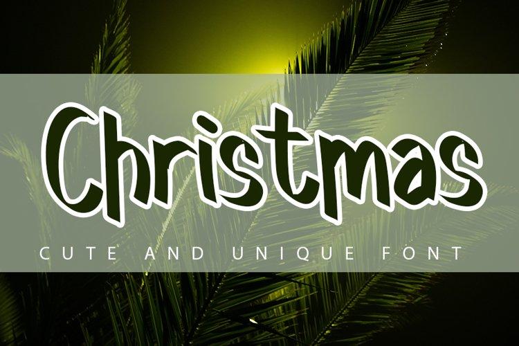 Christmas - Holiday Font example image 1