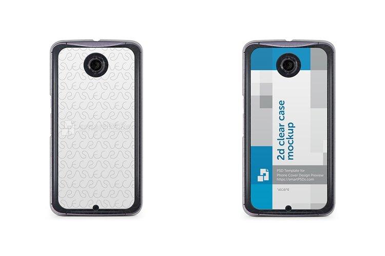 Google Nexus 6 2d Clear Mobile Case Design Mockup 2014 example image 1