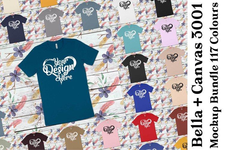 Bella Canvas 3001 MockupBundle Clean T-Shirt Mock Ups 349 example image 1