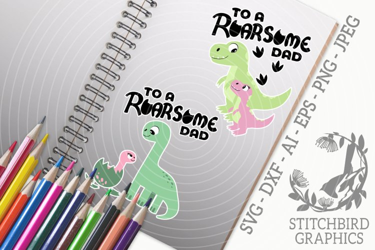 Roarsome Dad - Daughter Bundle SVG, Silhouette Studio example image 1