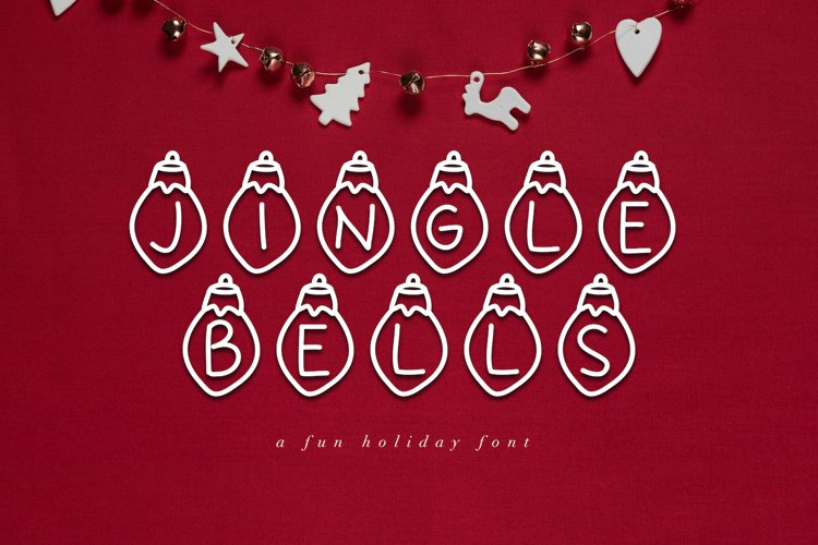 Jingle Bells - A Fun Christmas Font example image 1
