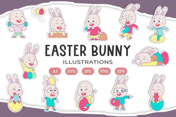 Easter Bunny Illustrations example image 1