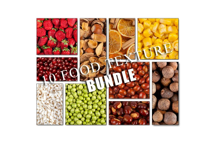 10 Food texture / pattern collection