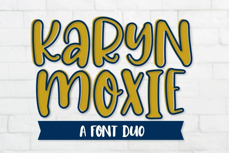 Web Font Karyn Moxie - A Font Outlined Duo example image 1