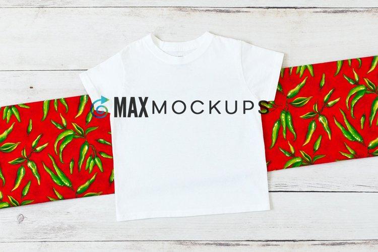 Kid shirt mockup, Cinco de Mayo or summer boy girl flatlay