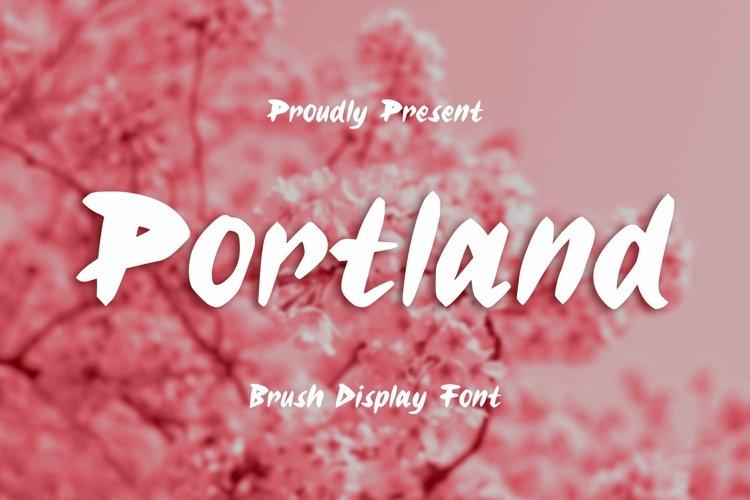 Web Font Portland Font example image 1