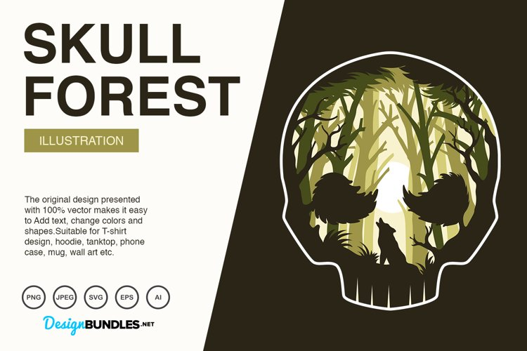 skull forest Illustrations