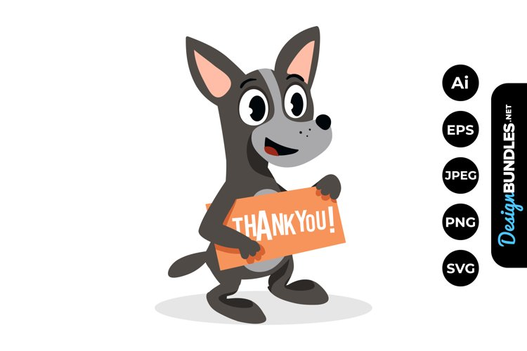Dog Thank You Clipart example image 1