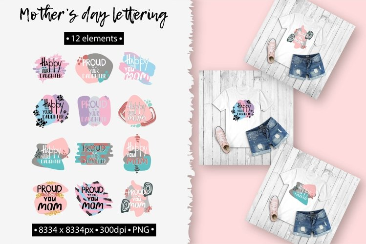 Mothers day lettering set PNG