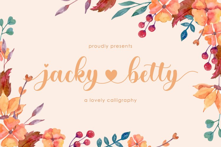 jacky betty | Lovely Calligraphy example image 1