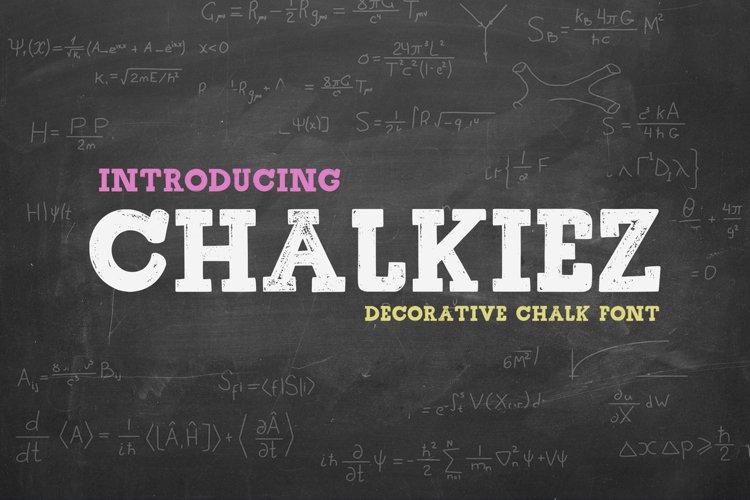 Chalkiez - Chalk Decorative Font example image 1