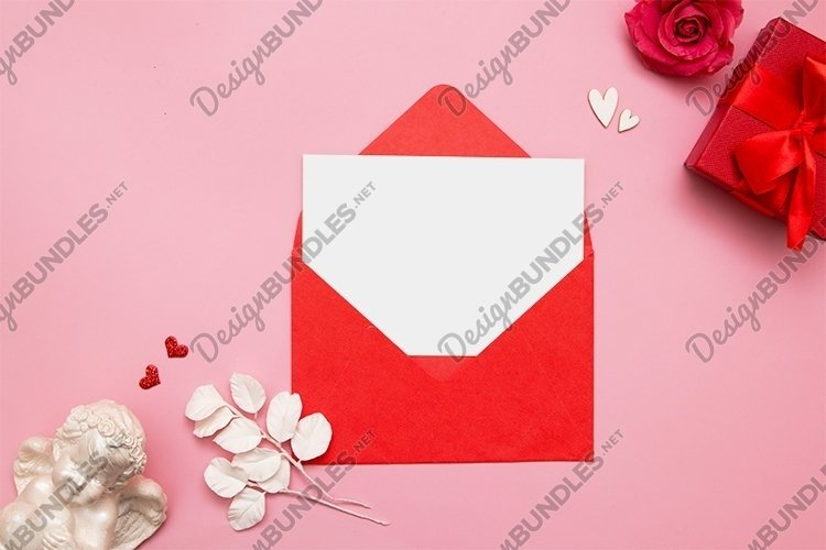 Valentines day blank sheet in envelope example image 1