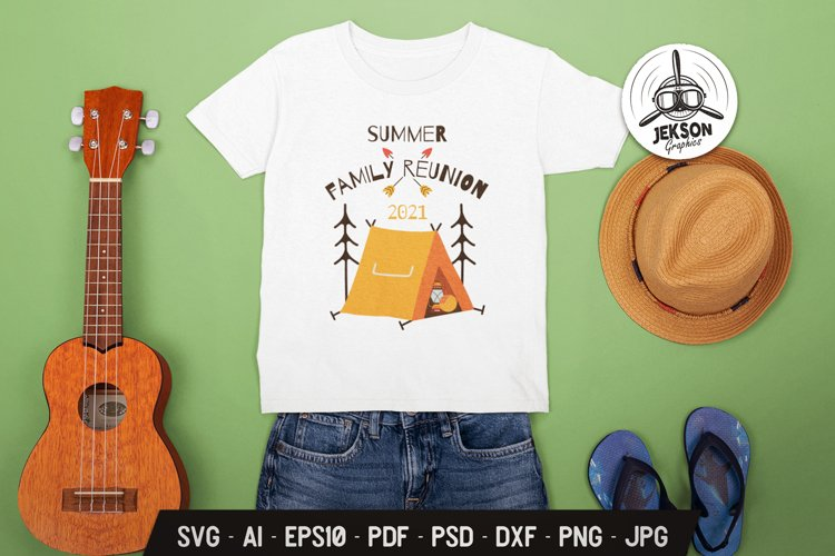 Summer Family Reunion SVG Sublimation Let's Go Travel TShirt example image 1