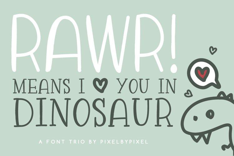 Rawr Sans Serif Font Trio example image 1