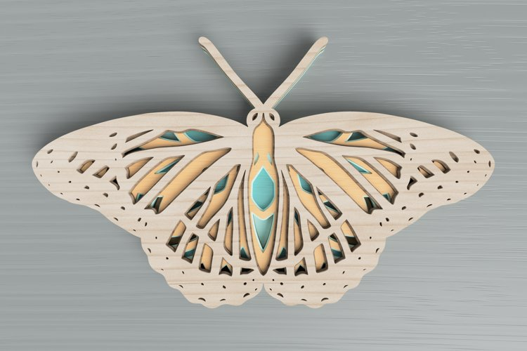 Insect laser cut file - Butterfly Mandala example image 1