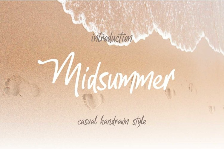 Midsummer || Casual Handrawn Style example image 1