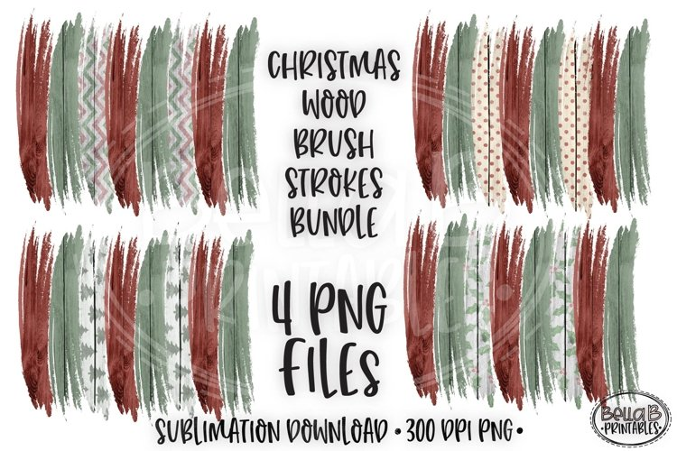 Christmas Brushstroke PNG, Sublimation Brushstrokes, Wood example image 1