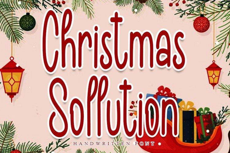 Christmas Sollution - Modern Handwritten Font example image 1