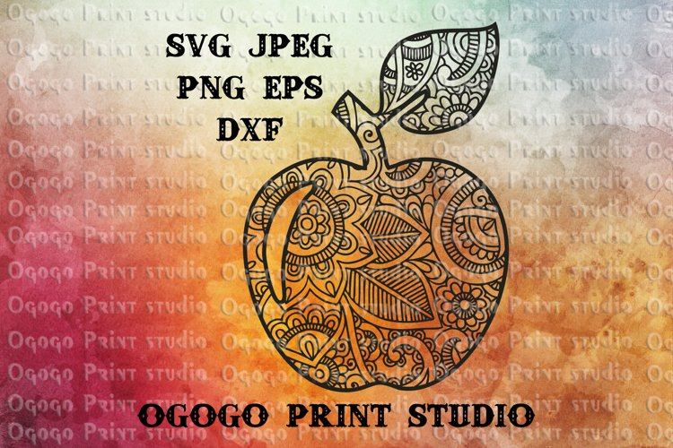 Apple SVG, Zentangle Svg, Teacher Apple SVG, Mandala svg