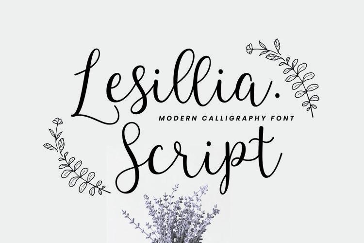 Lesillia Script example image 1