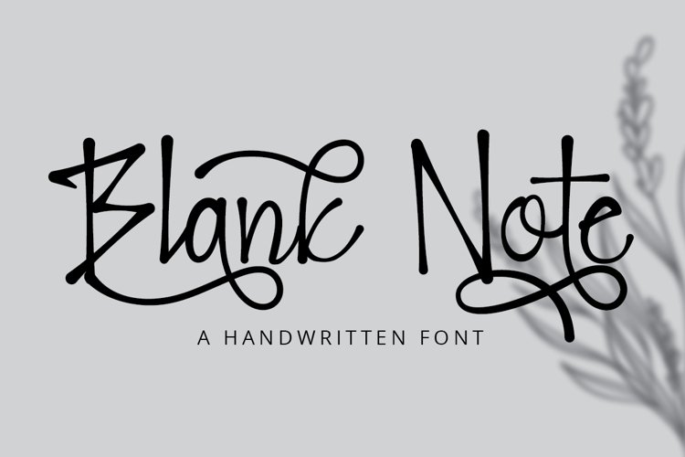 Blank Note - Ink Handwritten Font example image 1