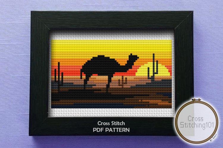 Desert Eve Cross Stitch Pattern - Instant Download PDF