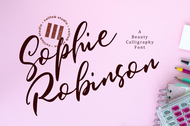 Sophie Robinson - A Beauty Calligraphy Font example image 1